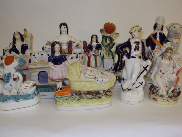 A collection of Staffordshire ceramics