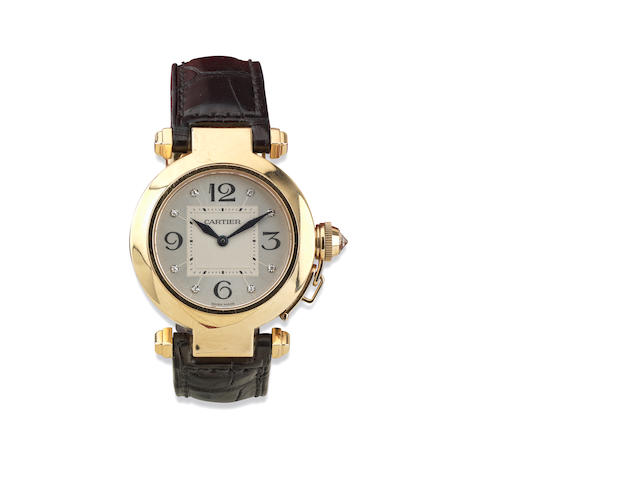 A lady's 18ct gold 'Pasha' wristwatch, by Cartier