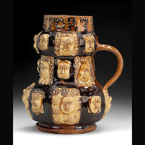Slipware tankard inscribed IOHN SONFORT