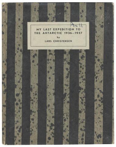 CHRISTENSEN (LARS) My Last Expedition to the Antarctic 1936-1937, Oslo, Johan Grundt Tanum, 1938
