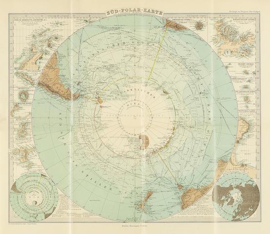 WEGENER (GEORG) Der Südpol. Die Südpolarforschung und die deutsche Südpolar-Expedition, FIRST EDITION, Berlin, Verlag von Hermann Baetel, 1897