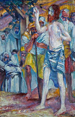 Alfred Aaron Wolmark (British, 1877-1961) Christ preaching