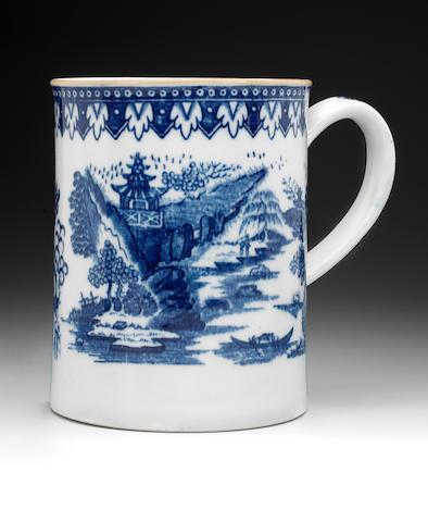 A 1785 Newhall tranfer printed mug, 14cm high