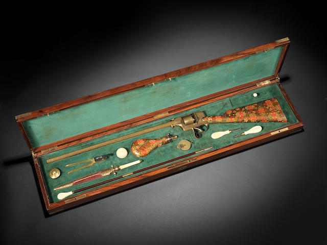 An Indian cased Rifle