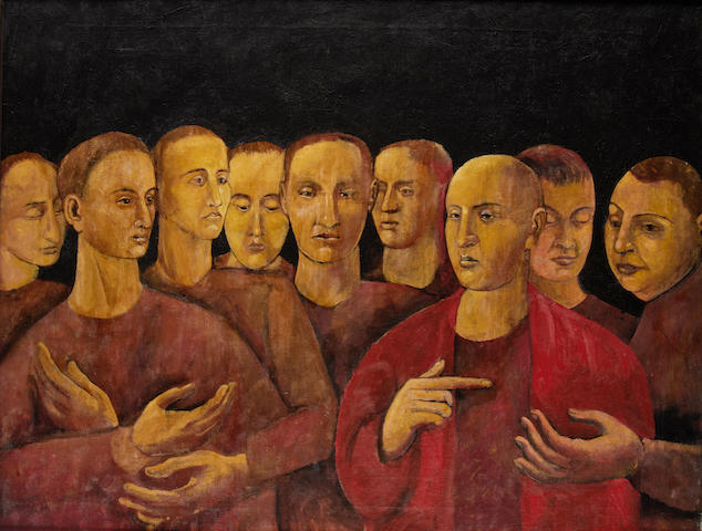 Horace Ascher Brodzky (British/Australian, 1885-1969) Group of men