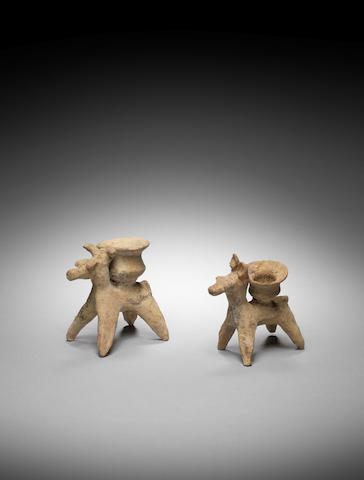 Two Cypriot pottery donkeys 2