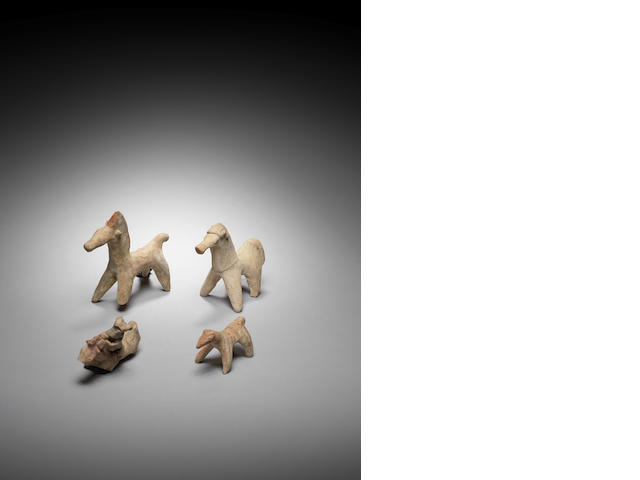 Four Cypriot pottery animals  4