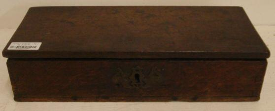 An 18th Century oak document box