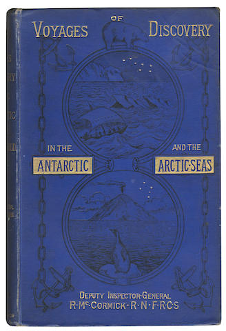 McCORMICK (RICHARD C.) Voyages of Discovery in the Arctic and Antarctic Seas, 2 vol., FIRST EDITION, LIMITED TO 750 COPIES, 1884