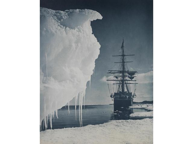 "PONTING (HERBERT GEORGE)  ""The Terra Nova at the Ice-Foot, Cape Evans"""