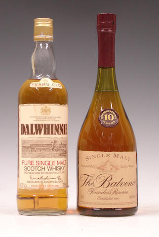 Dalwhinnie-8 year old<BR /> The Balvenie Founders Reserve-10 year old