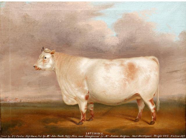 English Primitive School, 19th Century Lovesome - a prize bull