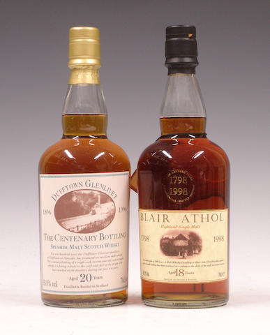 Dufftown Glenlivet Centenary-20 year old<BR /> Blair Athol Bicentenary-18 year old