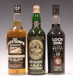 The Dufftown-Glenlivet-8 year old  Glengoyne-8 year old  Loch Dhu-10 year old