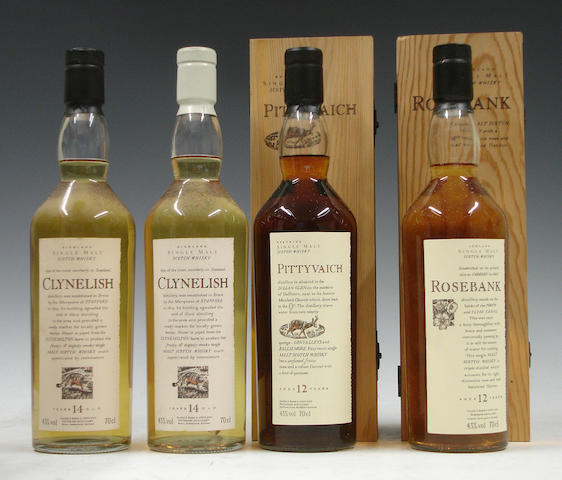 Clynelish-14 year old (2) <BR /> Pittyvaich-12 year old<BR /> Rosebank-12 year old