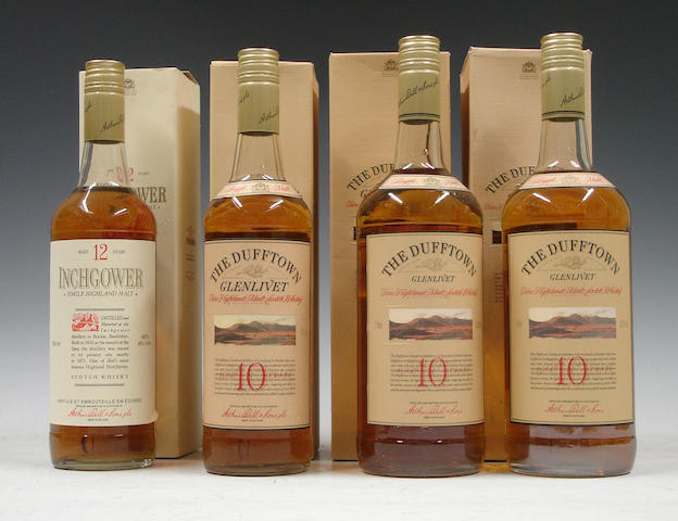 Inchgower-12 year old<BR /> Dufftown Glenlivet-10 year old (3)