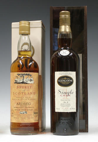 Ardbeg-1974<BR /> Glengoyne Single Cask-1983<BR /> Glenburgie-10 year old<BR /> Bruichladdich-10 year old<BR /> Highland Park-15 year old-1989