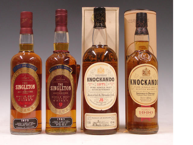 The Singleton of Auchroisk-1971<BR /> The Singleton of Auchroisk-1983<BR /> Knockando-1971<BR /> Knockando-1990