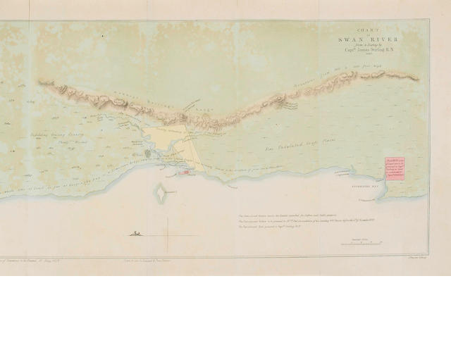 WESTERN AUSTRALIA [STIRLING (JAMES, Surveyor)] Swan River Settlement... Copies of the Correspondence ..., WITH THE CHART OF SWAN RIVER, 1829