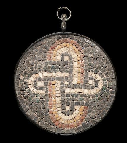 A Roman mosaic roundel