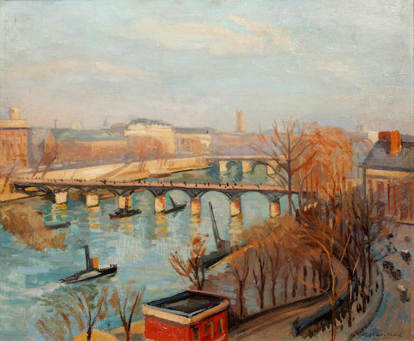 Jean Hippolyte Marchand (French, 1883-1940) Industrial river landscape