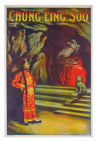MAGIC POSTER - CHUNG LING SOO, large colour lithographed poster