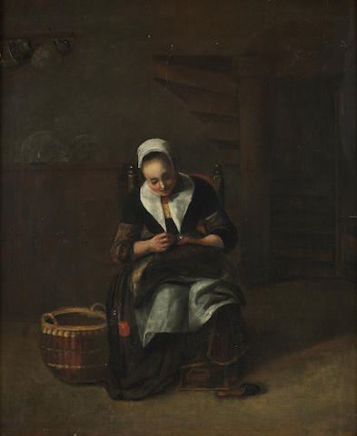 Attributed to Renier Coveyn (Antwerp 1636-circa 1667) The seamstress