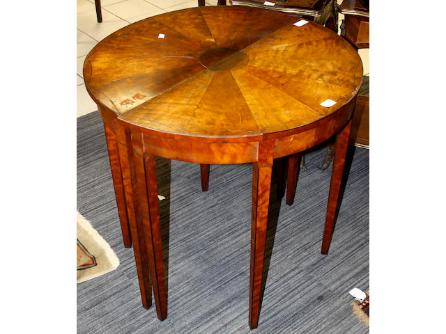A pair of 19th Century mahogany side tables,