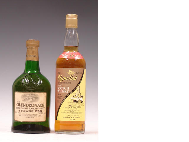 The Glendronach-8 year old<BR /> Clynelish-12 year old