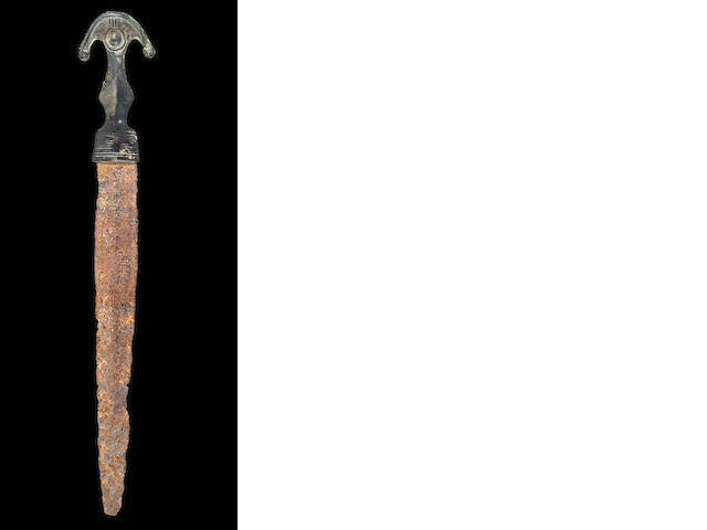 A Parthian bronze and iron dagger
