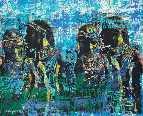 Kunle Adegborioye (Nigerian, born 1966) 'Warriors II'