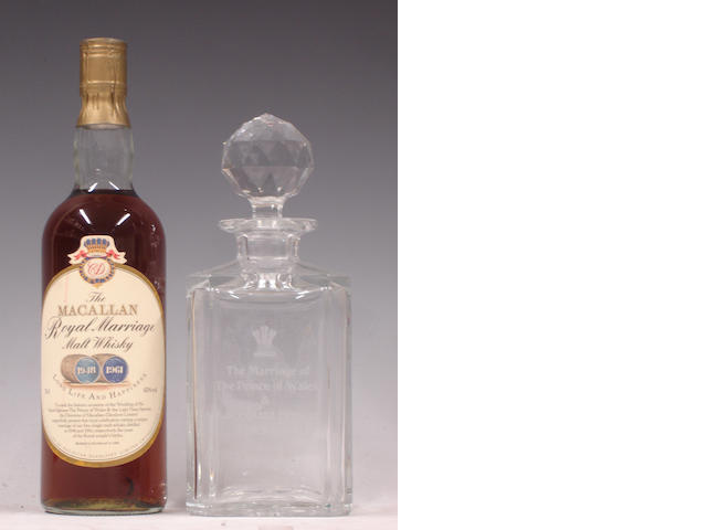 The Macallan Royal Marriage and engraved crystal decanter and stopper