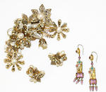 A large collection of costume jewellery, (qty)