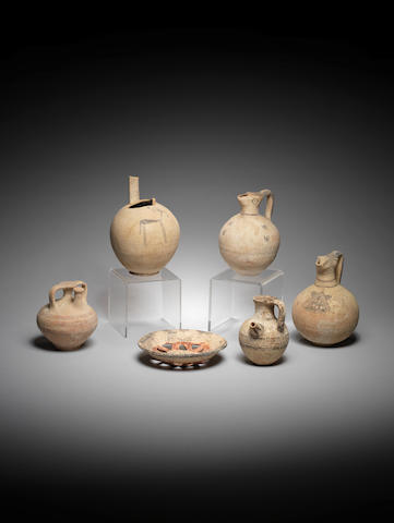 Six Cypriot pottery vessels 6