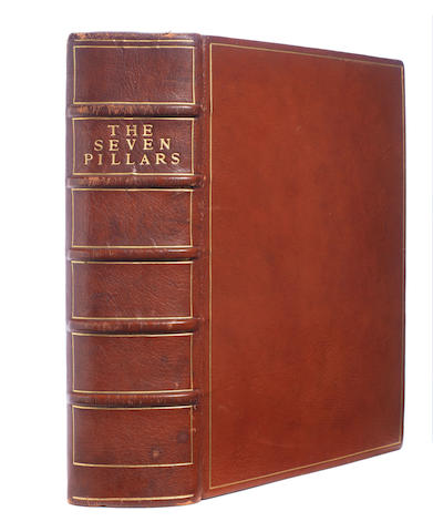 LAWRENCE (T.E.) The Seven Pillars of Wisdom, ONE OF 170 COMPLETE COPIES, AUTHOR'S PRESENTATION COPY TO EDWARD ELIOT, 1926