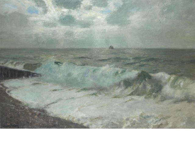 Julius Olsson (British, 1864-1942) Breakers