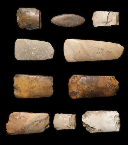 Ten Danish stone implements 10