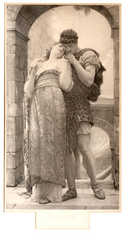 "After Frederic, Lord Leighton, PRA ""Wedded"" photoengraving published in 1882 by The Fine Art Society, London 57.2 x 31.5 cm. (22 5/8 x 12 1/2 in.)"