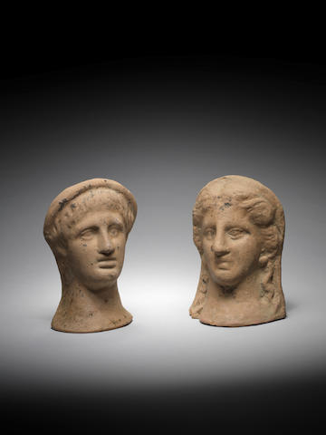 Two Etruscan terracotta votive heads 2
