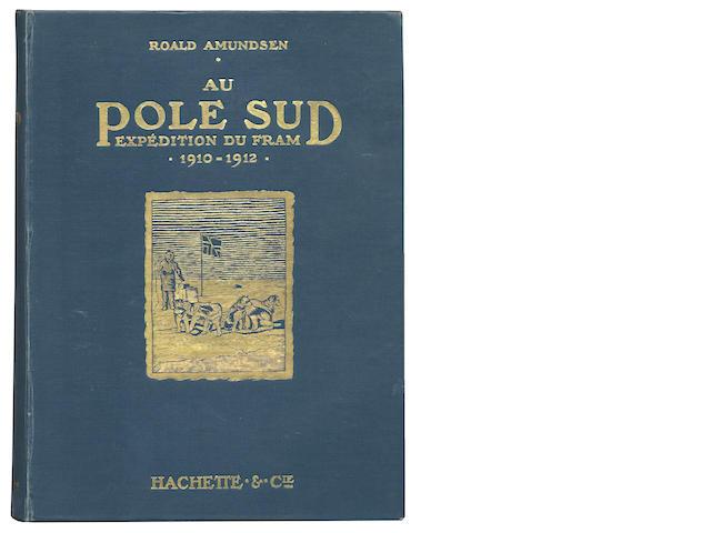 """AMUNDSEN (ROALD) Au Pole sud expedition du """"Fram"""" 1910-1912, Paris, Librairie Hachette et Cie, 1913"""