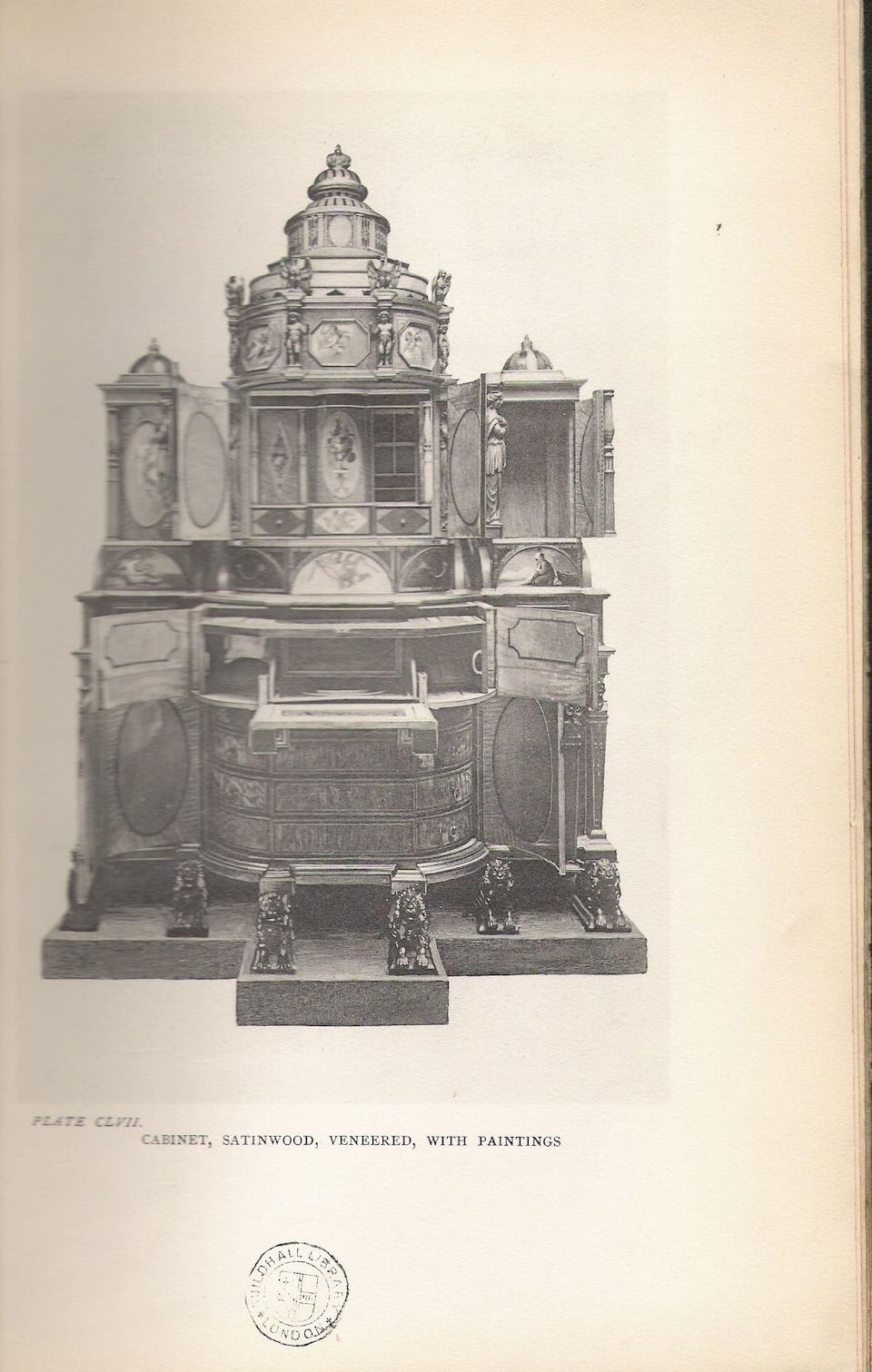 A satinwood, mahogany, sycamore and marquetry and parcel gilt secretaire cabinet reconstructed from an important cabinet by Seddon, Son & Shackleton of 1793 reputedly for Charles IV of Spain, the panels possibly by William Hamilton R.A