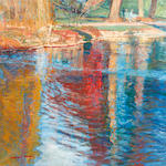 William Bowyer RA (British, born 1926) Reflections, Kew Gardnes