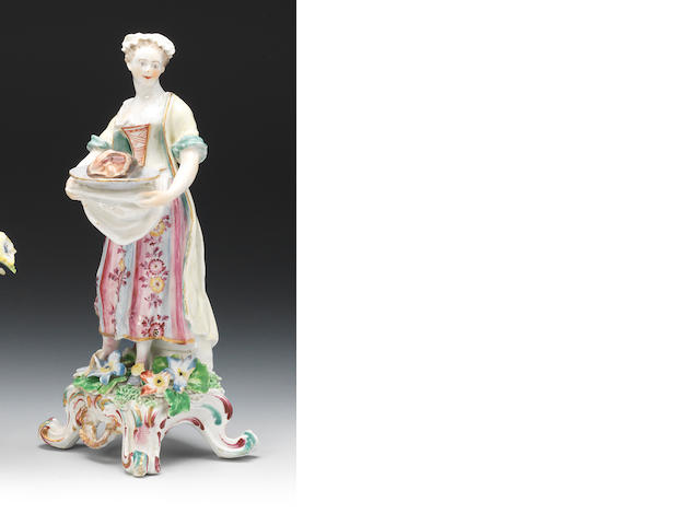 A Bow figure of a female cook, circa 1765