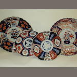 Four Japanese Imari dishes