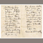 "LIVINGSTONE (DAVID) Autograph letter signed (""David Livingstone""), to Mr Foster, 1865; in an album with other letters"