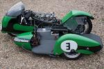 The ex-Chris Vincent, 1962 Isle of Man Sidecar TT-winning,1958 Vincent-BSA 650cc Racing Sidecar Outfit