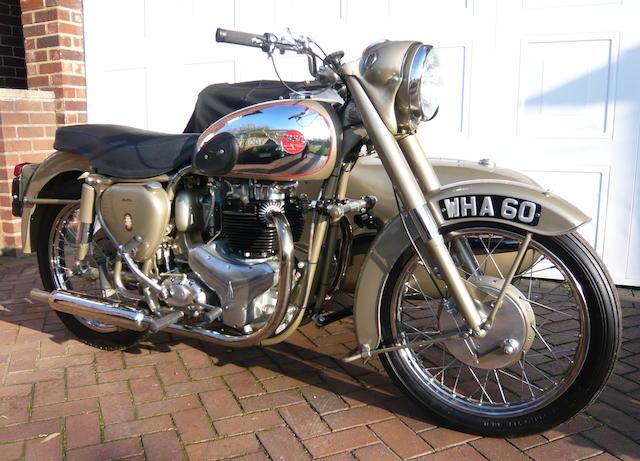 1954 BSA 646cc A7 Golden Flash Watsonian Monza combination Frame no. A7.6299 Engine no. CA10. 3769