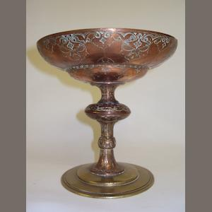 A copper and brass chalice