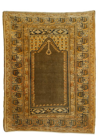 A Pandirma prayer rug, West Anatolia, circa 1910, 4 ft 9 in x 3 ft 7 in (144 x 110 cm) good condition throughout