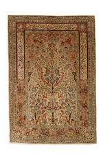 A pair of silk Hereke prayer rugs, West Anatolia, circa 1960, 5 ft x 3 ft (152 x 103 cm) very good condition